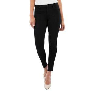 Kut from the Kloth Raw Hem Skinny Jeans Black